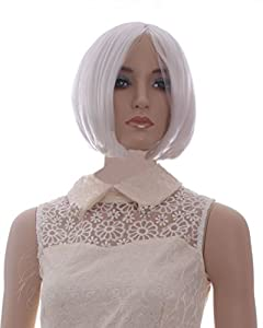 Women's Short Straight Cosplay Party Wig (Model: Jf010055) (White)