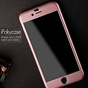 iPaky 360 Protective Body Case with Tempered Glass for Apple iPhone 6 6S - Rose Gold