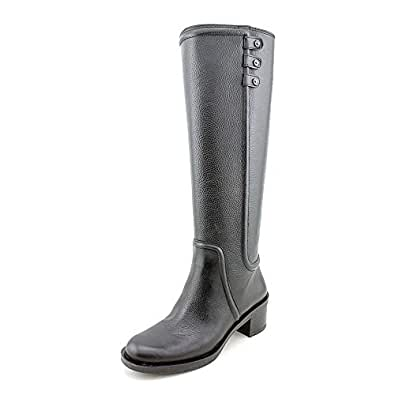 Enzo Angiolini Women's Gregie Riding Boot,Black,6 M US
