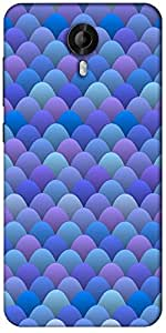 Snoogg Blue Waves In Japanese Style Designer Protective Back Case Cover For Micromax Canvas Nitro 3 E455