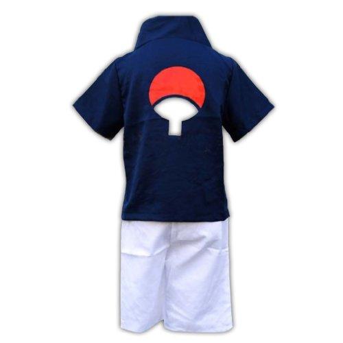 Naruto Cosplay Costume - Uchiha Sasuke 1St Kid Size Large