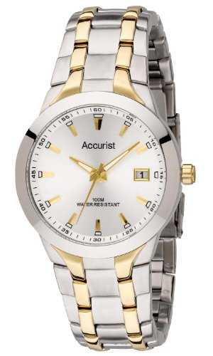 Accurist Men's Two Tone Bracelet Watch MB859S