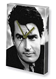 CHARLIE SHEEN - Canvas Clock (LARGE A3 - Signed by the Artist) #js001