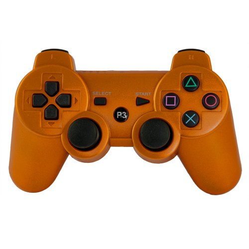 Avalid Gold Wireless Bluetooth Six Axis Dualshock Game Controller for Sony PS3