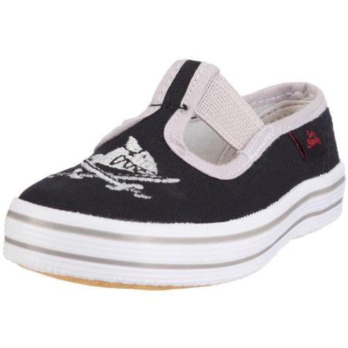 Capt'n Sharky 140005 Gym shoes Boys Black Schwarz (schwarz/grau 1) Size: 2 (34 EU)