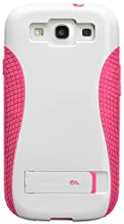 Case-Mate Pop CM021160 Case with Stand for Samsung Galaxy S3 (White-Honeysuckle Pink)