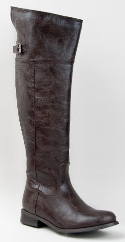 Hot Fashion Rider 82 Women's Riding Boots Buckle Faux Leather Size 9