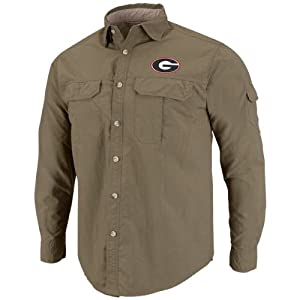 Georgia Bulldogs Redwood Long Sleeve Button Shirt by Chiliwear LLC