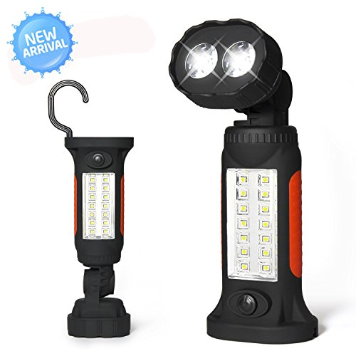 Portable Led Flashlight Magnetic Swivel Garage Work Light
