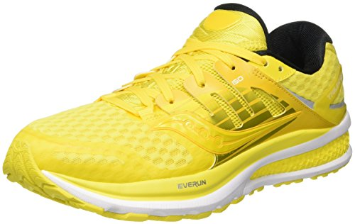 Saucony Triumph Iso 2 Pop, Scarpe da Corsa Uomo, Multicolore (Long Run Lemon), 42 EU