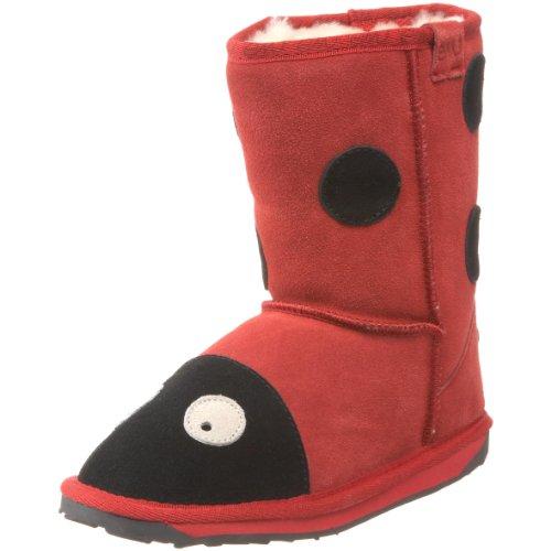 Emu Australia Little Creatures Lady Bird Shearling Boot (Toddler/Little Kid/Big Kid),Red,11 M Us Little Kid front-672286