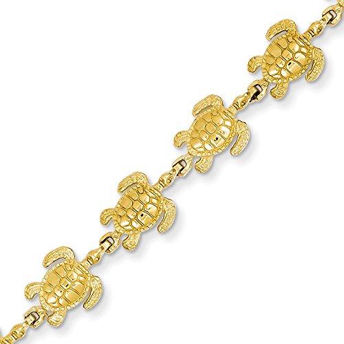 14 karat Gold Turtle Link    Bracelet