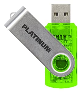 Platinum  USB 16 Go Vert Transparent