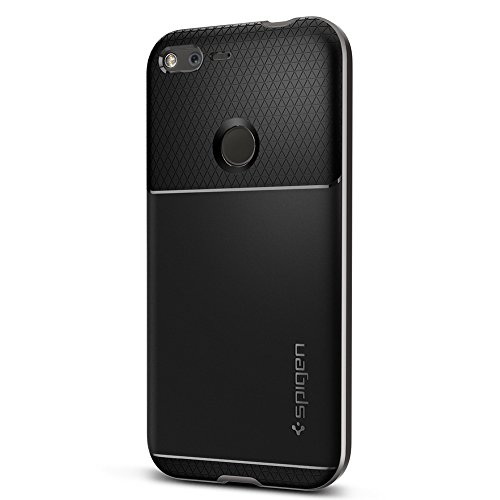 Spigen-Neo-Hybrid-Goolge-Pixel-XL-Case-with-Flexible-Inner-Protection-and-Reinforced-Hard-Bumper-Frame-for-Google-Pixel-XL-2016-Gunmetal