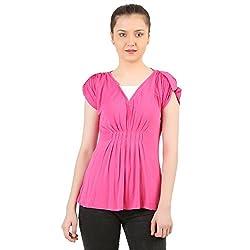 Menthol Womens Pink Tunic Top
