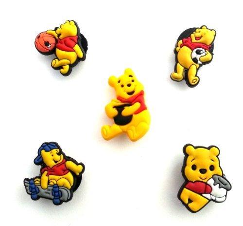 5 pezzi Winnie the Pooh Pendaglio di Gomma Decorazione set di Decorazione di Scarpa