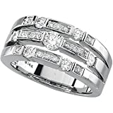 14K White Gold Diamond Right Hand Ring