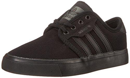adidas Originals Seeley J Shoe (Little Kid/Big Kid),Black/Black/Cinder Grey,11 M US Little Kid