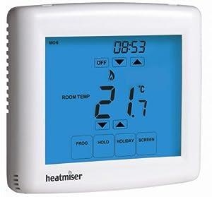 Touchscreen Programmable Room Thermostat - Heatmiser PRT-TS