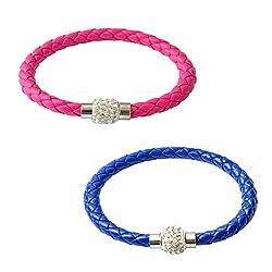 Sorella'z Pink & Blue Rope Bracelet Combo