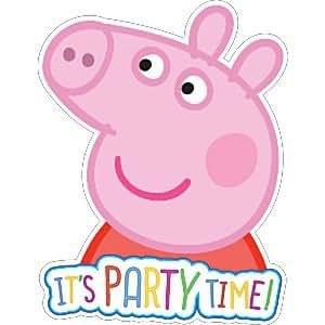 Gemma International Peppa Pig Party Party Invitations|6 pcs