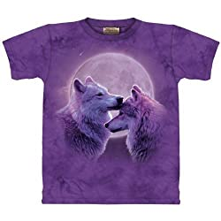Funny product The Mountain Loving Wolves Purple T-shirt