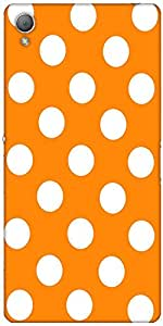 Snoogg Yellow Polka Dot Case Cover For Sony Xperia Z3