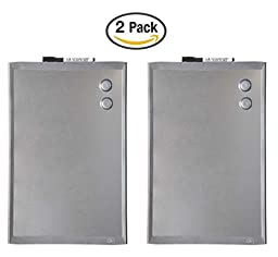 Quartet Plastic Frame Stainless Steel Finish Magnetic Dry-Erase Board, 11 x 17 Inches, Silver (MHOS1117) (2 Pack)
