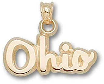 Ohio State Buckeyes Script Ohio Pendant - 14KT Gold Jewelry by Logo Art