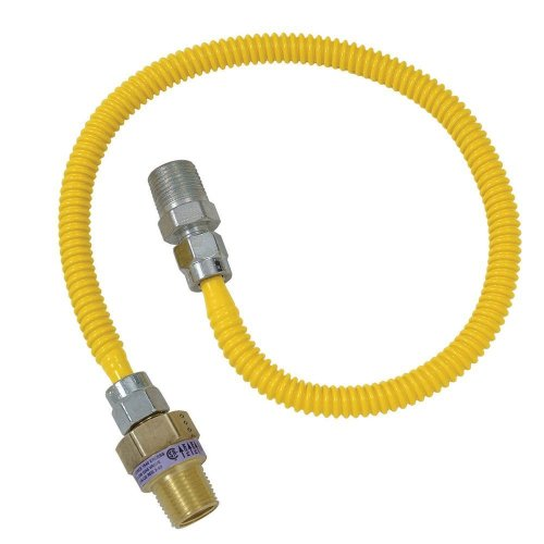 Cssl114E-48 X 3/8 In. Female Flare X 1/2 In. Mip X 48 In. Safety+Plus Gas Appliance Connector With Efv Valvebrasscraft Gas Connector -Yow
