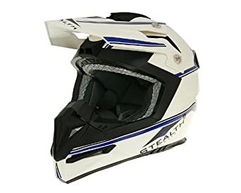 Casque Vega Motocross Stealth blanc taille XL