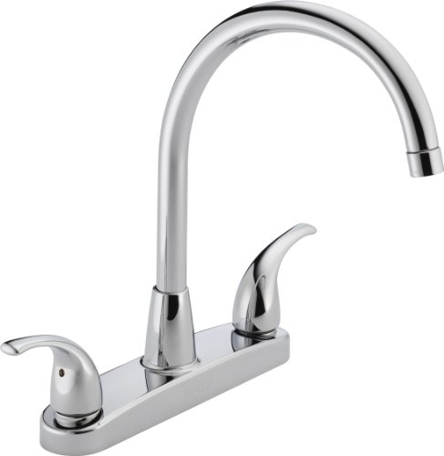 Peerless P299568LF Choice Two Handle Kitchen Faucet, Chrome (Two Hole Kitchen Faucets compare prices)