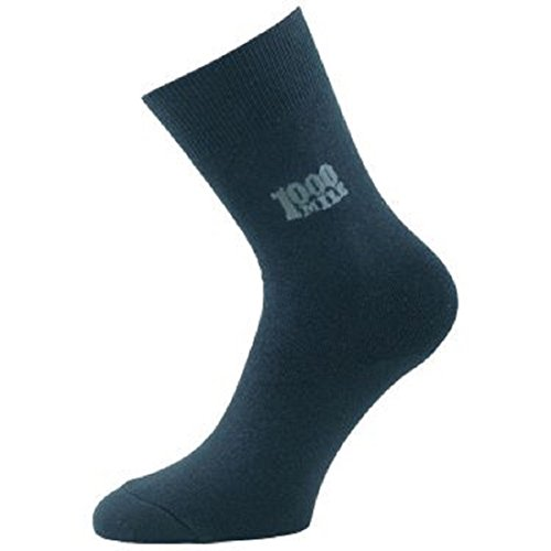 1000 Mile Original Logo Sock (Black, 12-14 UK Men)