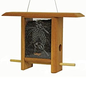 Schrodt Designs Model TH-7CPC Chickadee  7-Inch Pinecone Teahouse Feeder