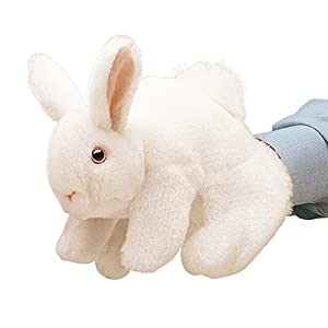 Folkmanis Bunny Rabbit Hand Puppet, White by Folkmanis Puppets