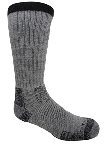 Merino Wool Thermal Compression Hiking Socks (2 Pairs) (Large (Men's 8-12/Women's 9-13), Taupe) Taupe Mens Socks