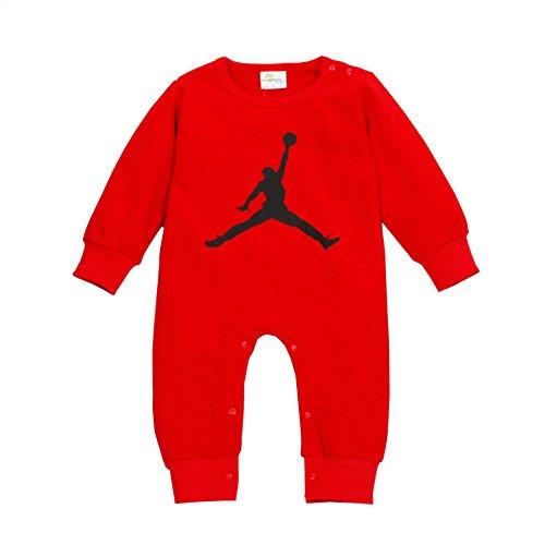 YISET Baby Clothing Long Sleeve Jordan Baby Rompers Jump Suit (10-12 Months)