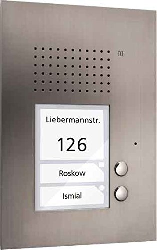 TCS Tür Control Audio Außenstation PUK 2 PUK02/1-ES Tasten 1spaltig UP e Türlautsprecher 4035138012751