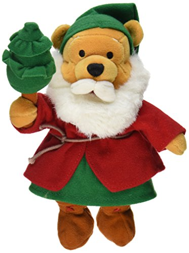 "Disney Pooh St. Nicholas Austria 8"" Plush Bean Bag Shepherd Santa Doll - 1"