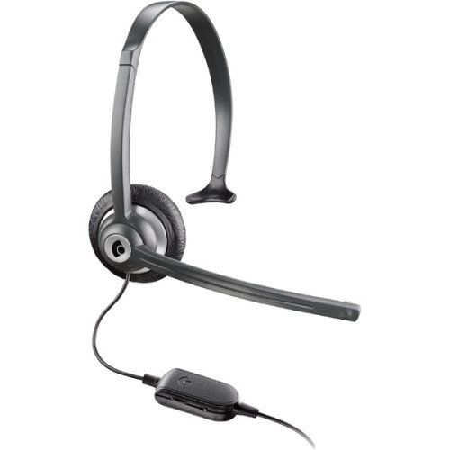 Plantronics Over-The-Head Monaural Lightweight Noise-Canceling Hands-Free Headset With Comfort Fit Headband For Use With Cordless/Mobile Telephones