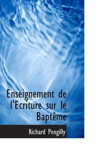 Enseignement de l'Ecriture sur le Baptême