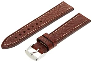 Hadley-Roma Men's MSM894RB-200 20-mm Brown Genuine Leather Watch Strap