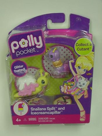 Buy Low Price Mattel Polly Pocket Collect a Cutant Snailana Split and Icecreamcapillar Figure (B004IIS3N6)