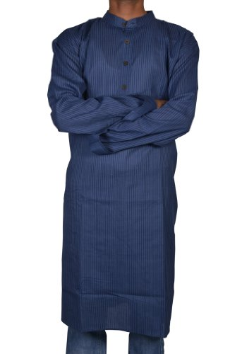 Traditional Casual Wear Indian Khadi Mens Long Kurta Fabric For Winter & Summers Size 5XL