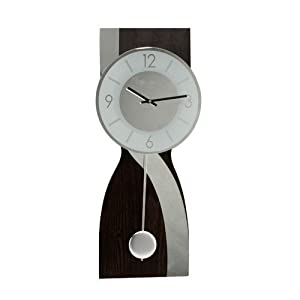 Widdop Wooden Wall Clock Mirror Wave