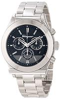 Salvatore Ferragamo Men's F78LCQ9909 S099 Salvatore Ferragamo 1898 Stainless Steel Case Black Dial Chronograph Watch from Salvatore Ferragamo