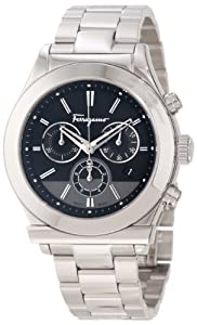 Salvatore Ferragamo Men's F78LCQ9909 S099 Salvatore Ferragamo 1898 Stainless Steel Case Black Dial Chronograph Watch from Salvatore Ferragamo