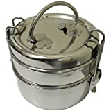 ROYAL SHAPPIRE Stainless Steel Small Tiffin Box/Lunch Box In 2 Container/fully Polished