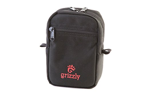 Grizzly WILDERNESS Medium Gear Bag for WALKERS, for Belt or Utility Belt Hiking, Dog Walkers, Birders Carry Outdoor Gear. Phone, Bug Repellant, Sun Screen, Dog Bags, Flashlight, Compass Pepper Spray