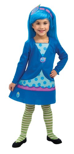 Rubies Strawberry Shortcake and Friends Blueberry Muffin Costume, Medium (Girls Blueberry Muffin Wig)